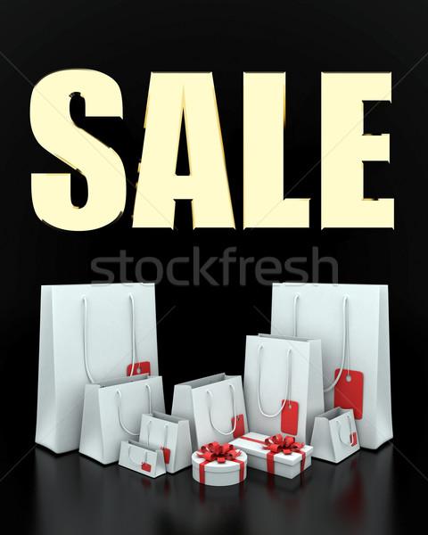 Grande venda 3D imagem texto branco Foto stock © mastergarry