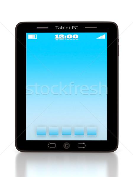 Afbeelding computer technologie witte geïsoleerd telefoon Stockfoto © mastergarry