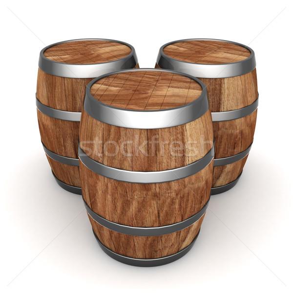 Stockfoto: Hout · vat · afbeelding · oude · eiken · wijn