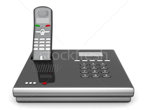 Rood telefoon afbeelding mooie witte kantoor Stockfoto © mastergarry