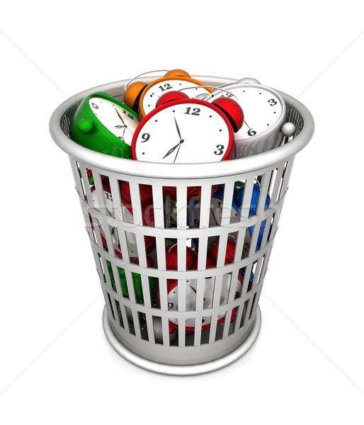 Residuos cesta imagen dinero reloj tiempo Foto stock © mastergarry