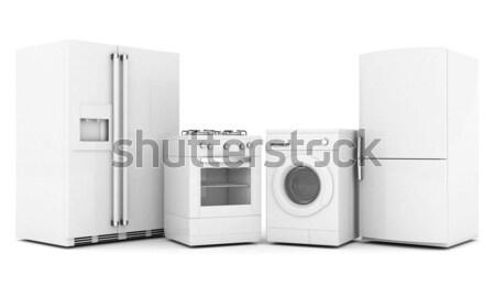 Ev resim beyaz ev kahvaltı Stok fotoğraf © mastergarry