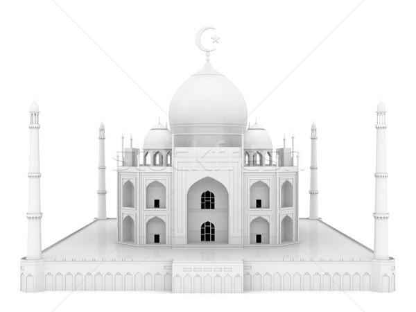 Foto d'archivio: Bella · bianco · moschea · isolato · abstract · luna
