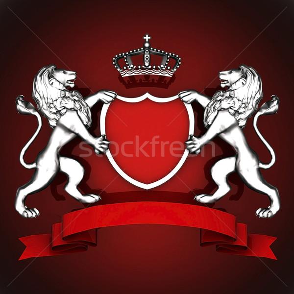 Casaco brasão imagem belo antigo emblema Foto stock © mastergarry