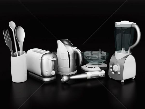 Casa quadro preto faca máquina Foto stock © mastergarry