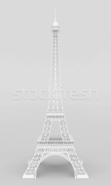 白 エッフェル塔 グレー シルエット 塔 構造 ストックフォト © mastergarry
