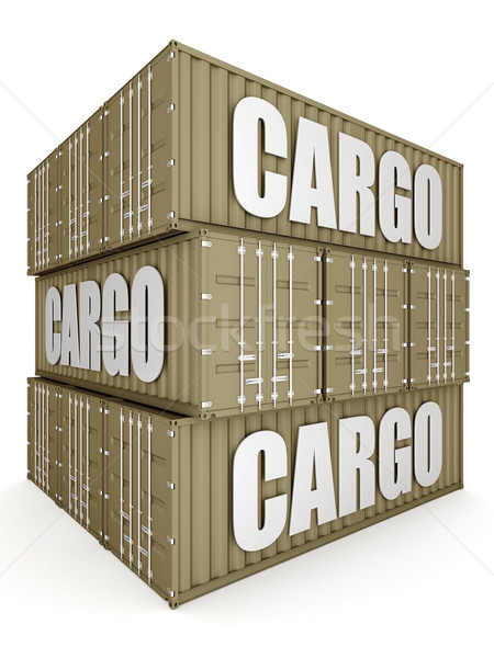 shipping container Stock photo © mastergarry
