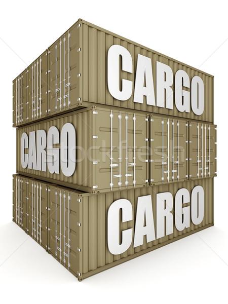 судоходства контейнера изображение белый бизнеса двери Сток-фото © mastergarry