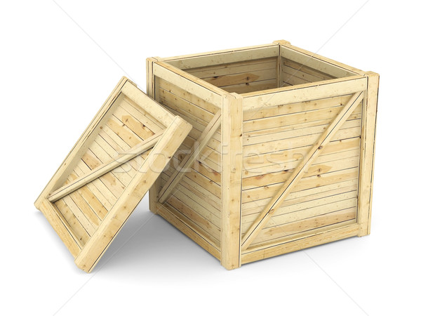 Foto stock: Isolado · branco · caixa · retro