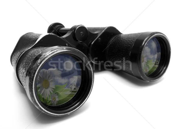 Binóculo foto velho isolado branco céu Foto stock © mastergarry
