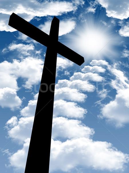 聖なる 聖書 写真 クロス 木製 ブラウン ストックフォト © mastergarry