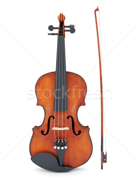 Hermosa violín blanco aislado arte color Foto stock © mastergarry