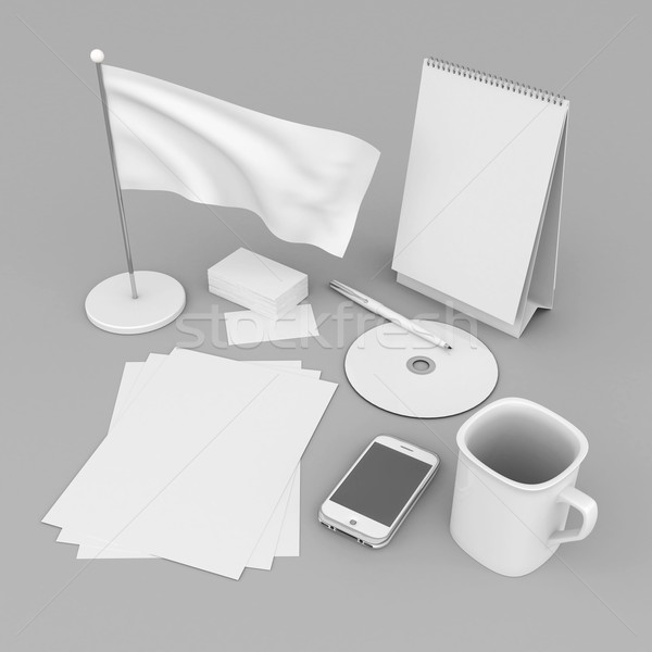 Corporate identity template Stock photo © mastergarry