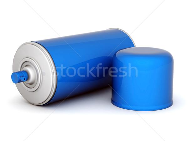 Foto d'archivio: Alluminio · spray · immagine · vernice · bianco · design
