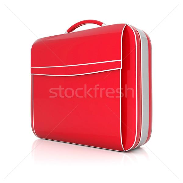 Vermelho mala isolado branco negócio segurança Foto stock © mastergarry
