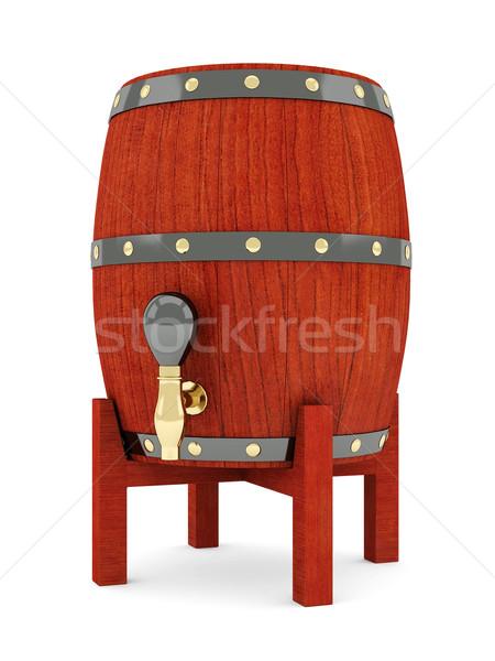 Vinho barril imagem velho madeira beber Foto stock © mastergarry