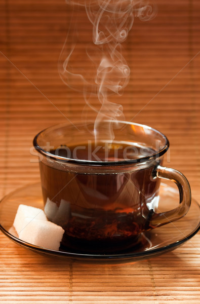 Photo cups of tea with sugar Stock photo © mastergarry