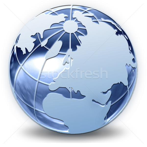 Mundo increíble fantástico luz azul negro Foto stock © mastergarry