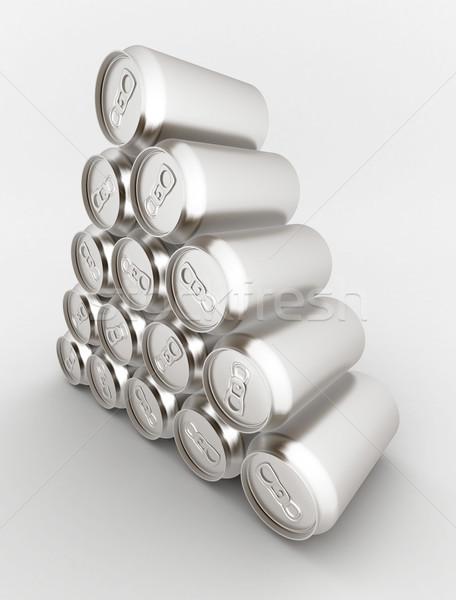 Alumínio lata imagem beber projeto fundo Foto stock © mastergarry