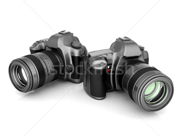 Cámara digital imagen blanco tecnología negro foto Foto stock © mastergarry