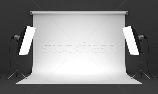 Photo studio vide matériel d'éclairage mode lumière Photo stock © mastergarry