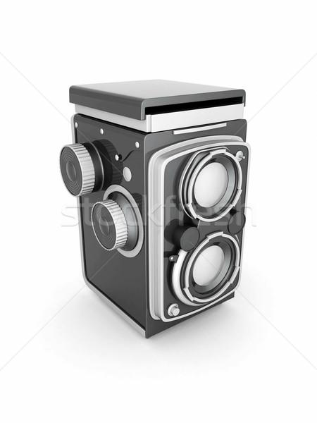 Bağbozumu dijital fotoğraf makinesi beyaz teknoloji fotoğraf Stok fotoğraf © mastergarry