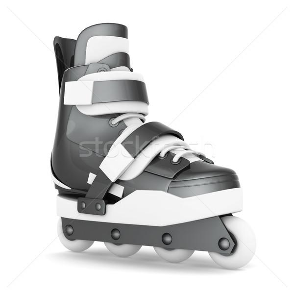 スケート 孤立した 白 通り フィットネス フレーム ストックフォト © mastergarry