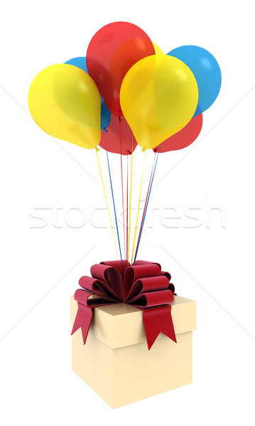 Feliz aniversário balões arejado colorido belo Foto stock © mastergarry