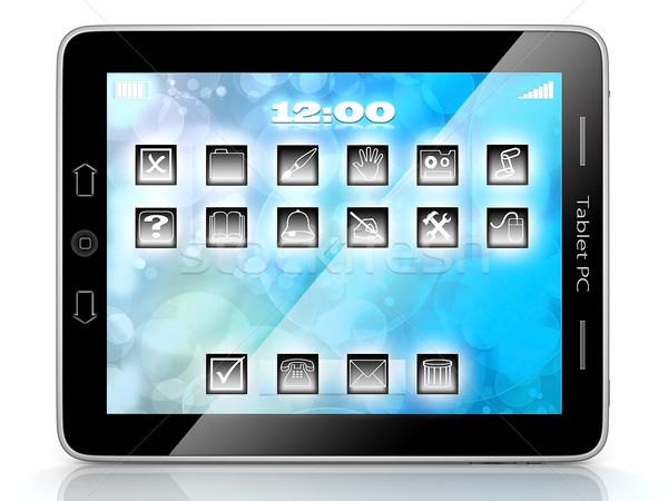 Imagem computador tecnologia branco isolado telefone Foto stock © mastergarry