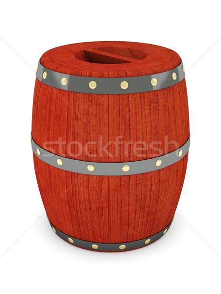 Wein Barrel Bild alten Holz trinken Stock foto © mastergarry