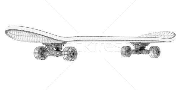 Andar de skate marca novo patinar juventude estúdio Foto stock © mastergarry