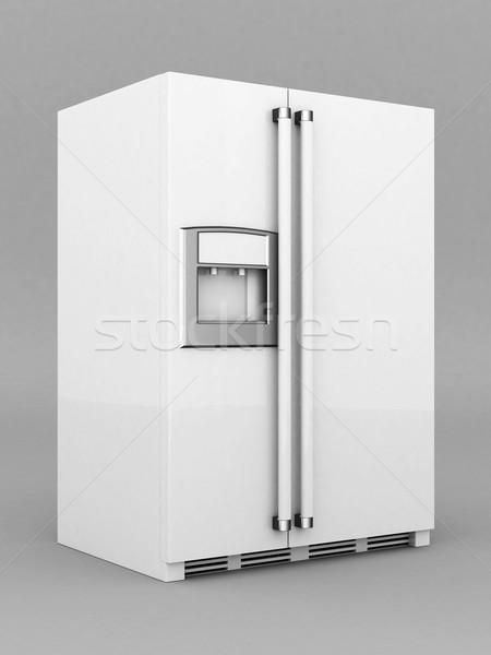 美しい 冷蔵庫 画像 グレー 黒 白 ストックフォト © mastergarry