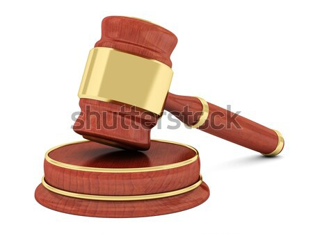 beautiful image of judicial attributes Stock photo © mastergarry