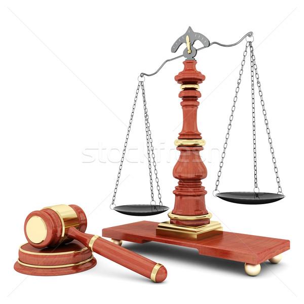 Bella immagine giudiziaria giustizia catena avvocato Foto d'archivio © mastergarry