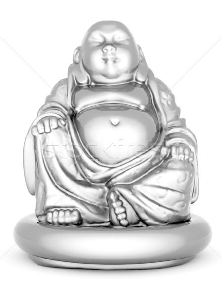 Prata estátua buda imagem asiático Foto stock © mastergarry