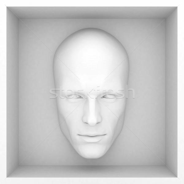 Abstrato estilo apresentação olhos projeto cabeça Foto stock © mastergarry
