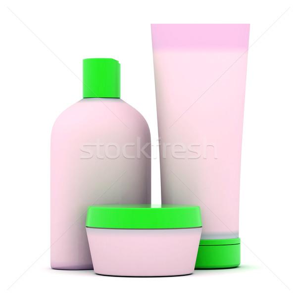 Cosmetica afbeelding persoonlijke zorg groene fles Stockfoto © mastergarry