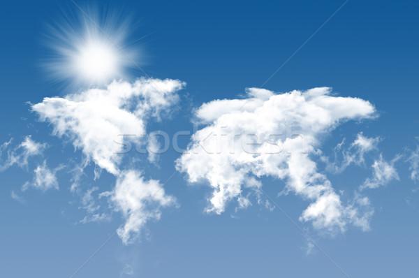 空 写真 雲 太陽 美しい 青空 ストックフォト © mastergarry