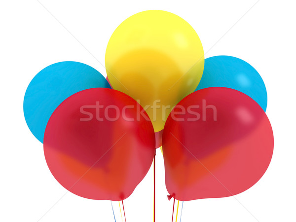 Gelukkige verjaardag ballonnen luchtig kleurrijk mooie Stockfoto © mastergarry