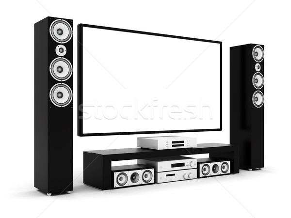 modern home theater Stock photo © mastergarry
