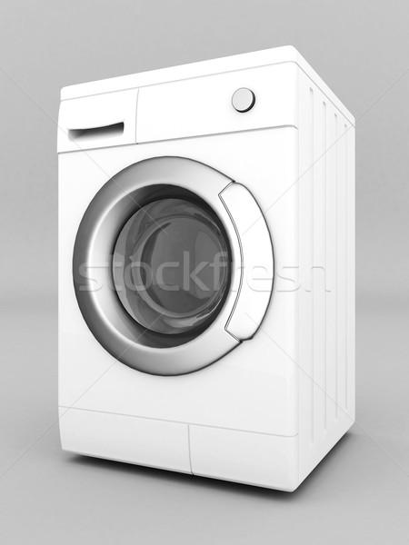 Máquina de lavar roupa quadro cinza água trabalhar tecnologia Foto stock © mastergarry