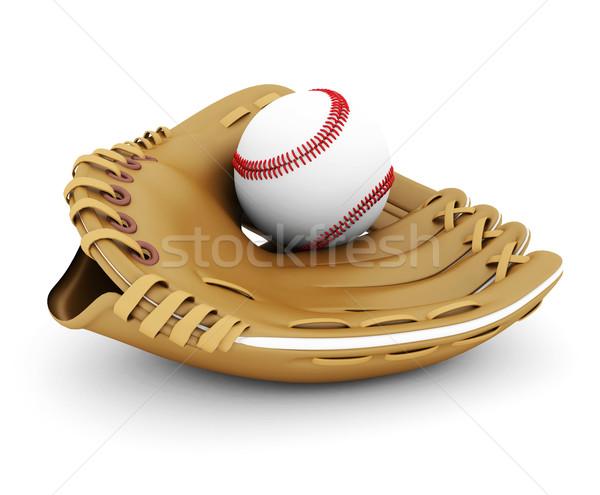 Couro luva beisebol branco fundo Foto stock © mastergarry
