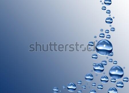 Druppels waterdruppels zuiver water bubble Stockfoto © mastergarry