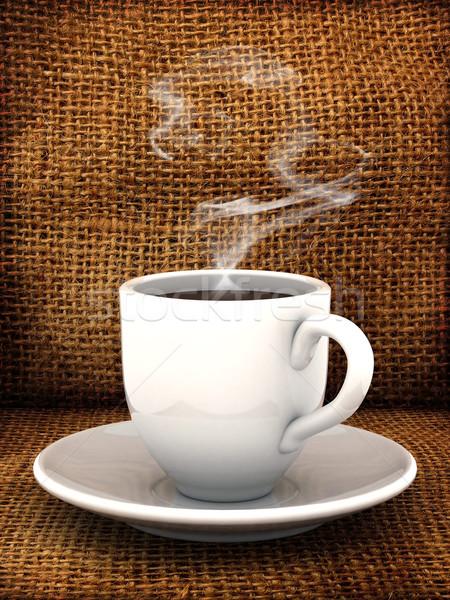 コーヒー ドリンク 写真 カップ 茶 砂糖 ストックフォト © mastergarry