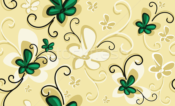 Background with emerald flowers Stock photo © maximmmmum
