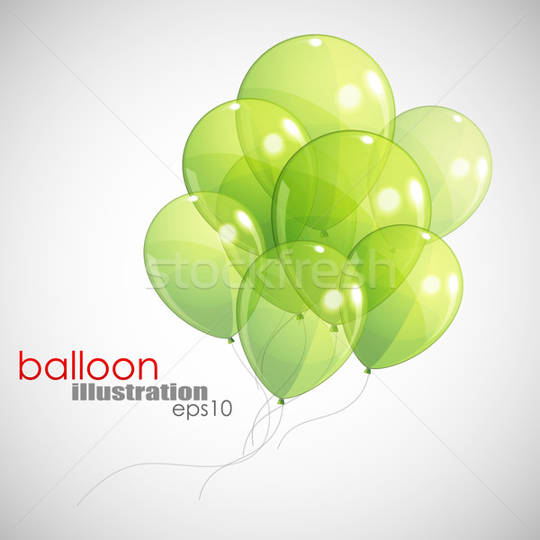 Zöld léggömbök boldog háttér szabadság bemutató Stock fotó © maximmmmum