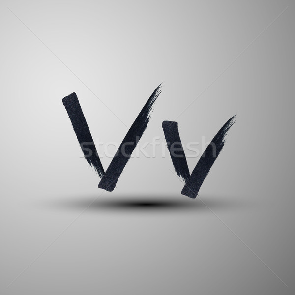 vector calligraphic hand-drawn marker or ink letter V Stock photo © maximmmmum