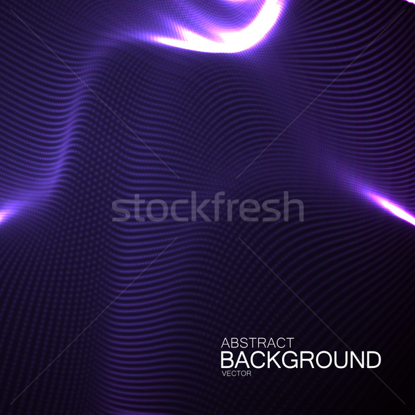 Foto stock: 3D · néon · digital · onda · abstrato