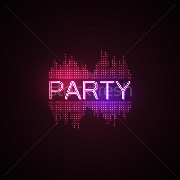 Party digitale musica equalizzatore discoteca Foto d'archivio © maximmmmum
