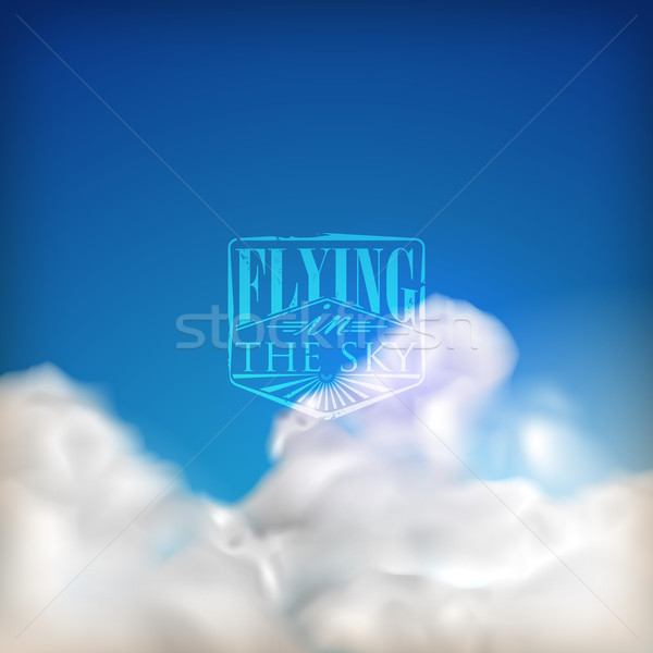 abstract background with blue sky and clouds  Stock photo © maximmmmum